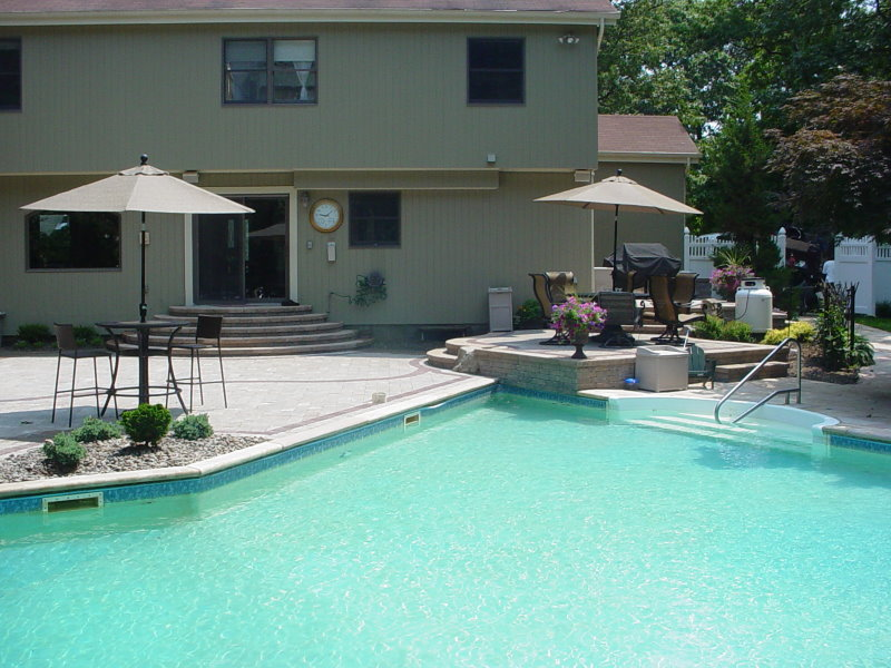 Multi-level pool patio