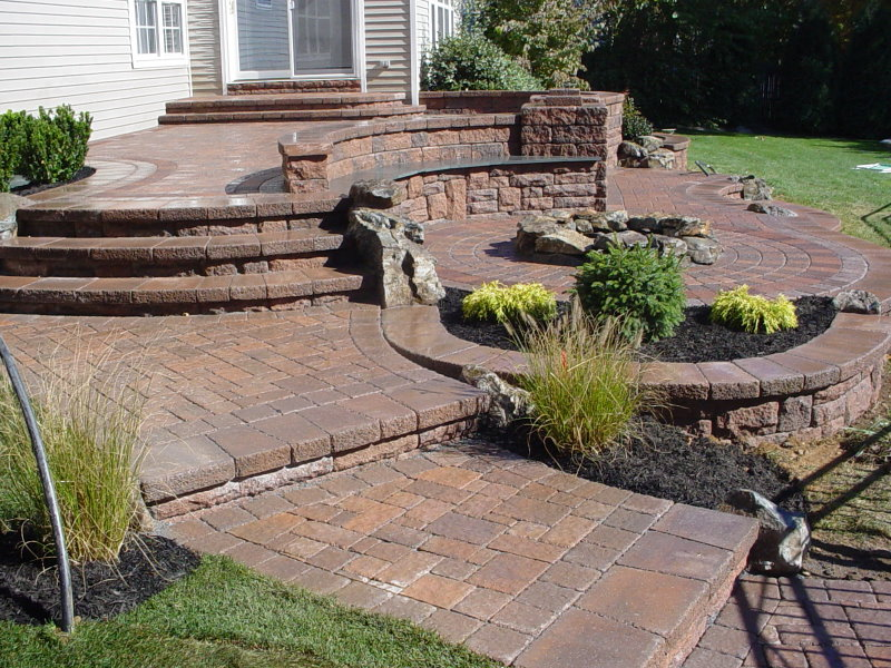 Patios multi level patios peter anthony landscaping for Multi level patio designs