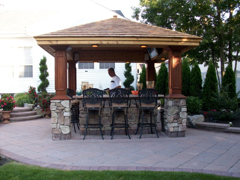 outdoor bar with pavilion