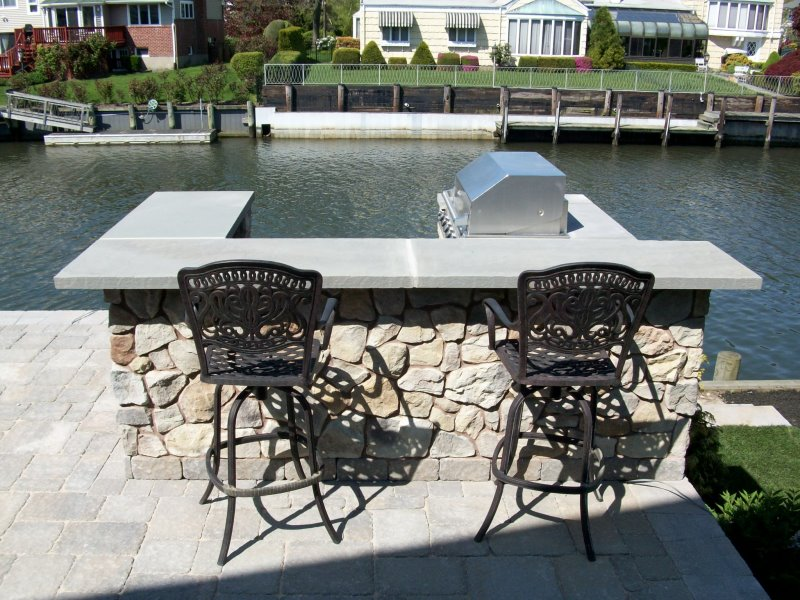 Outdoor Bar on waterfront property