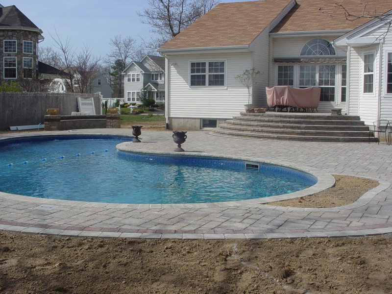 Pool patio setauket