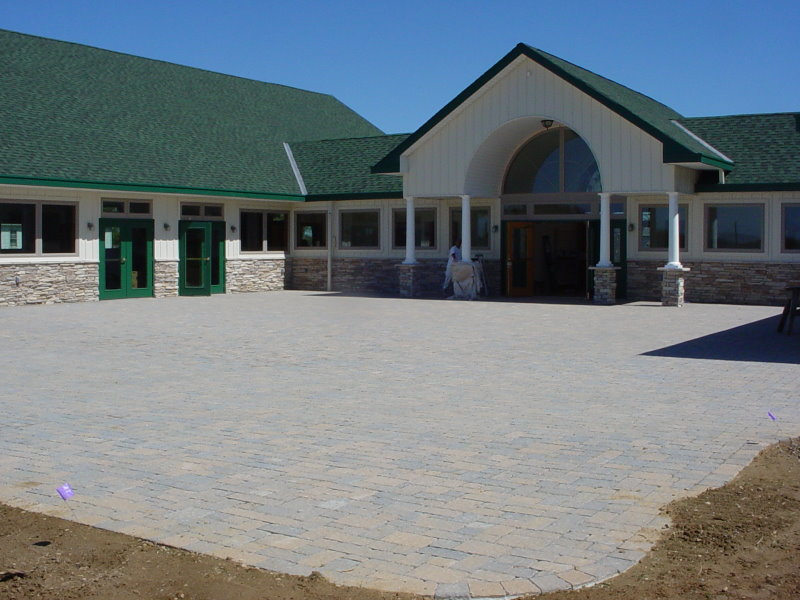 Paver patio duckwalk