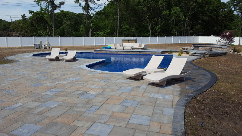 Pool patio with Cambridge pavers